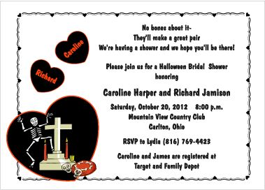 Live It Up - Invitations for Halloween themed Bridal Showers