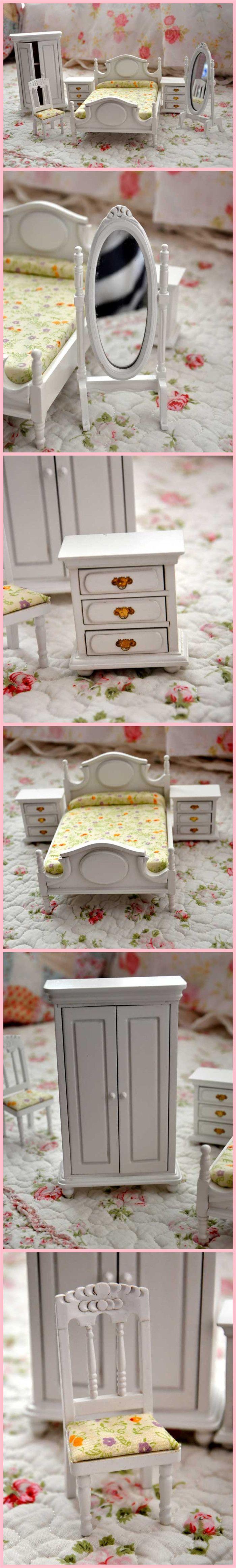 Casa de bonecas Dollhosue presente do dia de natal diy 6 peça set de madeira de móveis de bonecas em Móveis de brinquedo de Brinquedos & Lazer no AliExpress.com | Alibaba Group