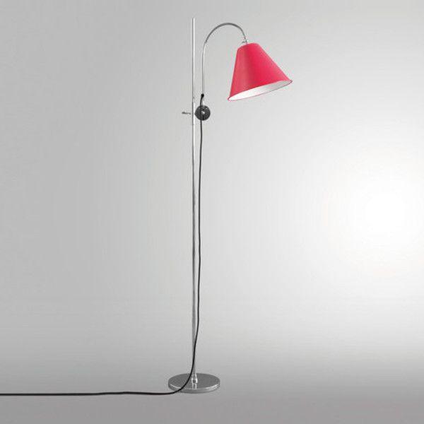 Art. 1935 Tribute to V.G. Weite Lampada da terra regolabile con base e asta in acciaio cromato; parabola orientabile in alluminio laccato.