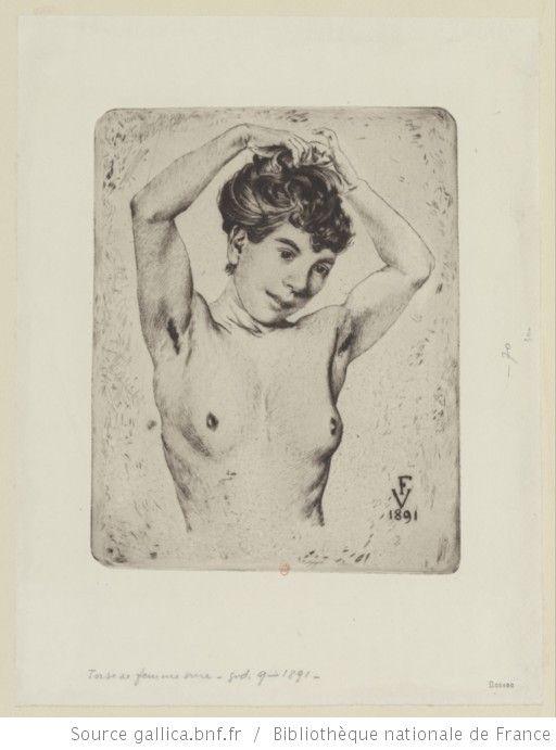 Torse de femme nue : [estampe] ([2ème état]) / Félix Vallotton - 1