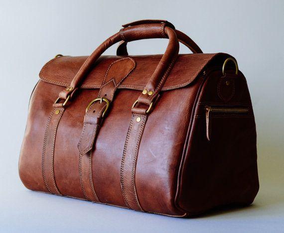 Leather Duffle Bag Full Grain Handbag By BennyBeeLeather