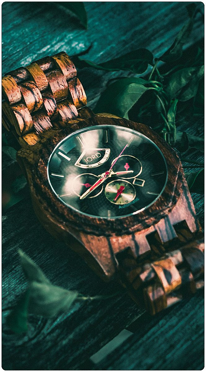 The finest automatic wood watch available featuring the Citizen Miyota 9100 automatic multi-function movement - The Sawyer Series by JORD. | Photo credit to @thecatalystmachine of IG | Find the Zebrawood & Obsidian Sawyer at woodwatches.com - free shipping worldwide.