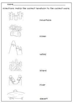 This is a graphic of Canny Landform Printable Worksheets