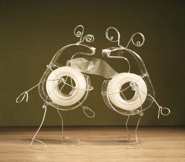 Two tape dispensers in love. Artist is Terry Border (via @brainpicker)