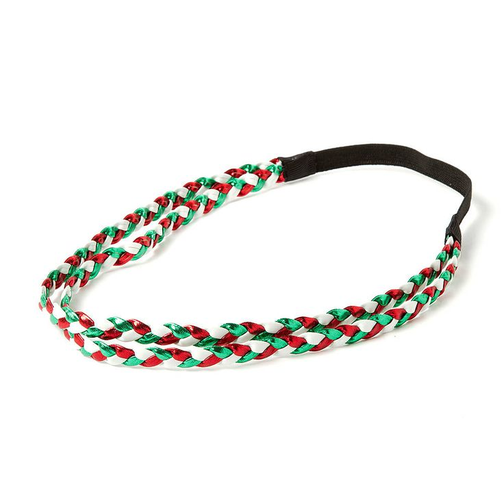 Holiday Metallic Double Braid Headwrap | Claire's