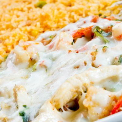 Copycat On The Border Mexican Casserole Recipe  http://www.recipe4living.com/recipes/copycat_on_the_border_mexican_casserole.htm
