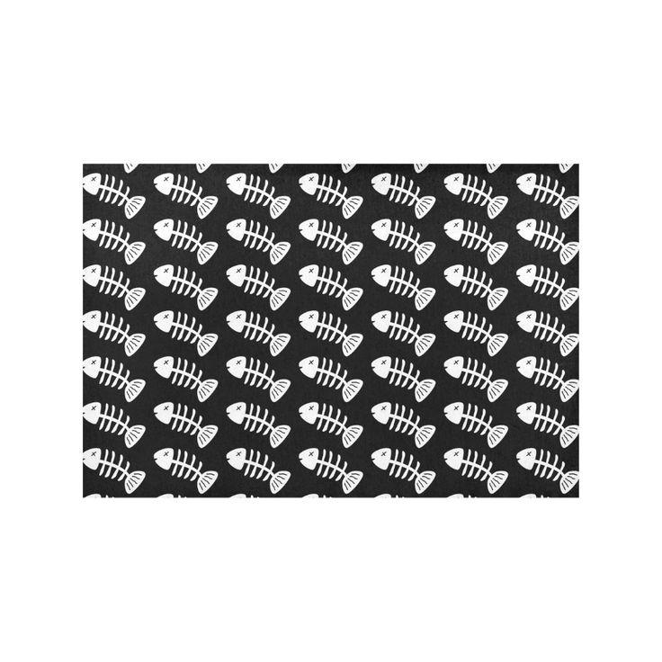 Fish Bones Pattern Placemat 12