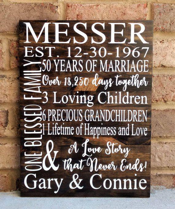 50th wedding anniversary suggestions