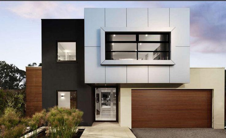 fachadas casas minimalistas dos plantas moderna #casasminimalistasideas