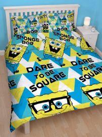 Spongebob Squarepants Happy Double Duvet Cover and Pillowcase Set