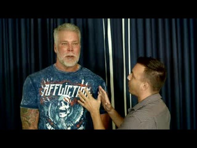 Director, Ricky Borba, reminds Kevin Nash they had dinner together.