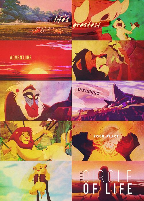 """""""It's the greatest adventure find yourself in the circle of life."""""""