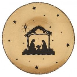 Nicole™ Crafts Nativity Charger Plate or use any picture for any season.