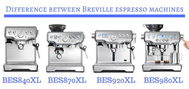 Difference Between Espresso Machines Breville Bes840xl Bes870xl Bes920xl Bes980xl Coffee Supremacy Breville Espresso Machine Espresso Machines Espresso Machine
