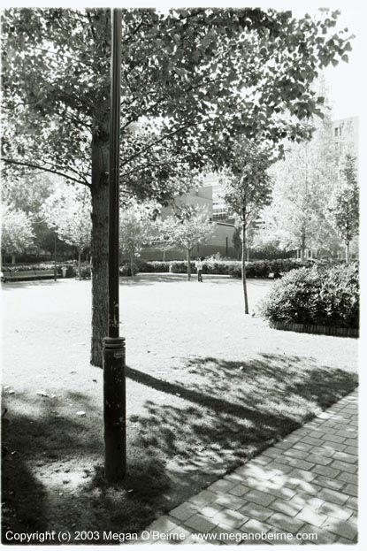 Photograph of Square James Joyce, Paris, France (c) 2003 Megan O'Beirne
