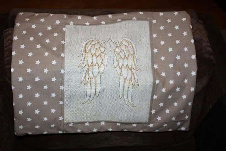 Angel wings pillow case