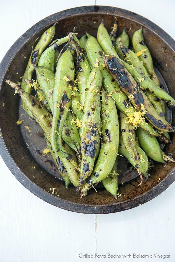 Grilled Fava Beans with Balsamic Vinegar - BoulderLocavore.com