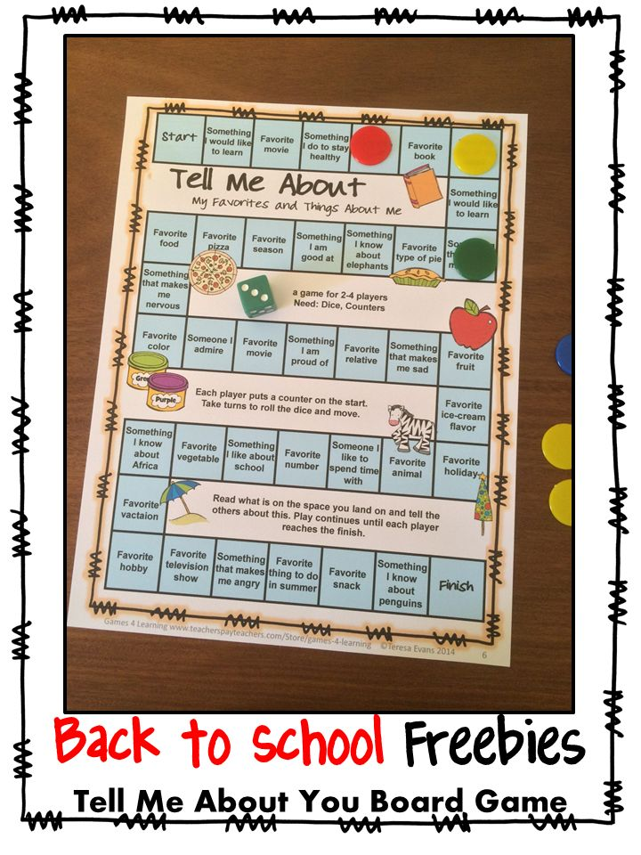 FREEBIE Games 4 Learning Back to