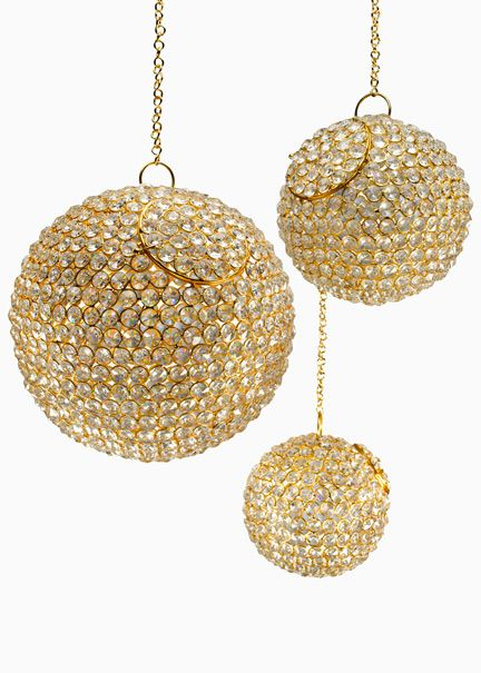 Hanging Gold Clear Crystal Balls Sparkling Wedding Event Decorations