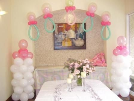 Decoracion de baby shower con globos babyshower ideas for Decoracion simple con globos