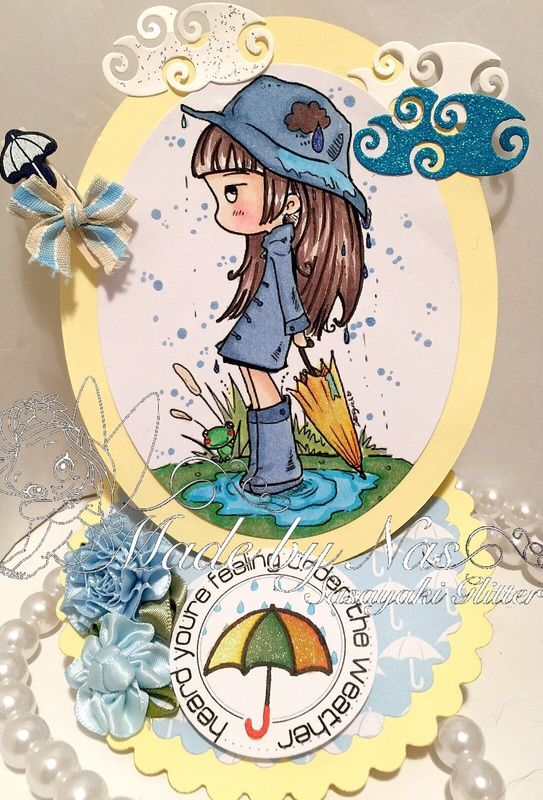 My card featuring Spring Rain from Star Stampz http://starstampz.blogspot.com.au/ More details on my blog http://sasayakiglitter.weebly.com/blog