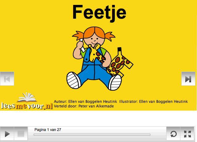 Feetje, digitaal prentenboek. Feetje heeft last van de ruzies van haar gescheiden ouders. Gelukkig vinden zij een oplossing.