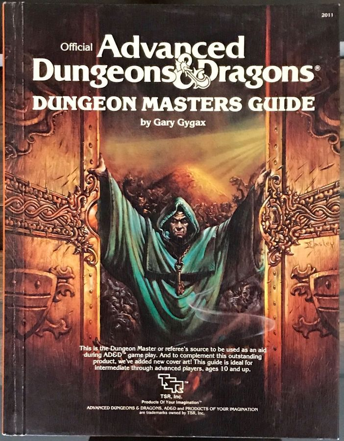 dungeon masters guide by gary gygax official advanced dungeons