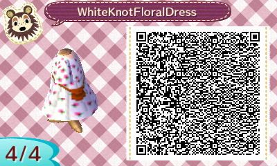I completely forgot who asked for this but I made White verison of the Black Floral Dress