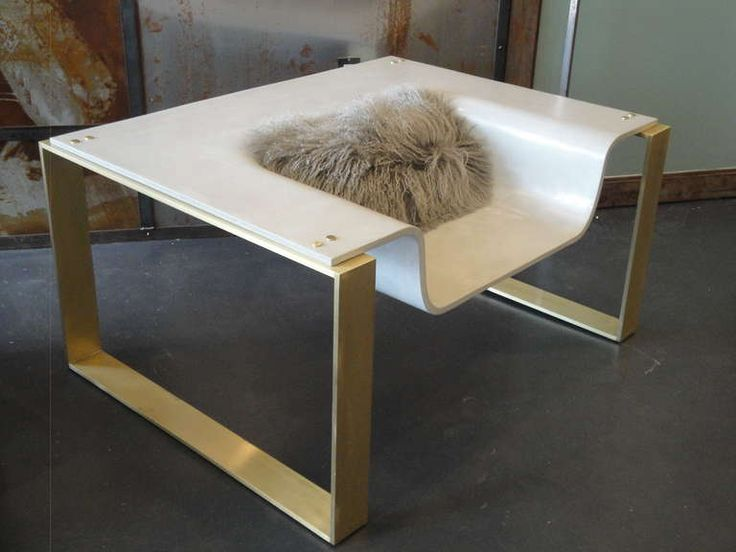 Charming Pair Of Slick Sexy YSL Concrete Brass Lounge Chair
