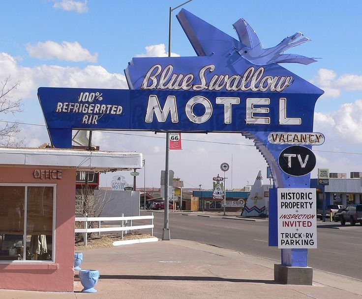 Blue Swallow Motel in Quay County, New Mexico.
