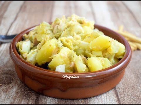 Patatas con Judías Verdes, Huevo Duro y Atún. Video Receta           |            Asopaipas. Recetas de Cocina Casera                                                               .