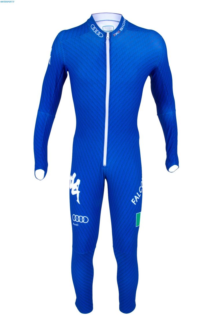 Kappa Italian Alpine Team FISI SL Race Suit - Royal Carbon