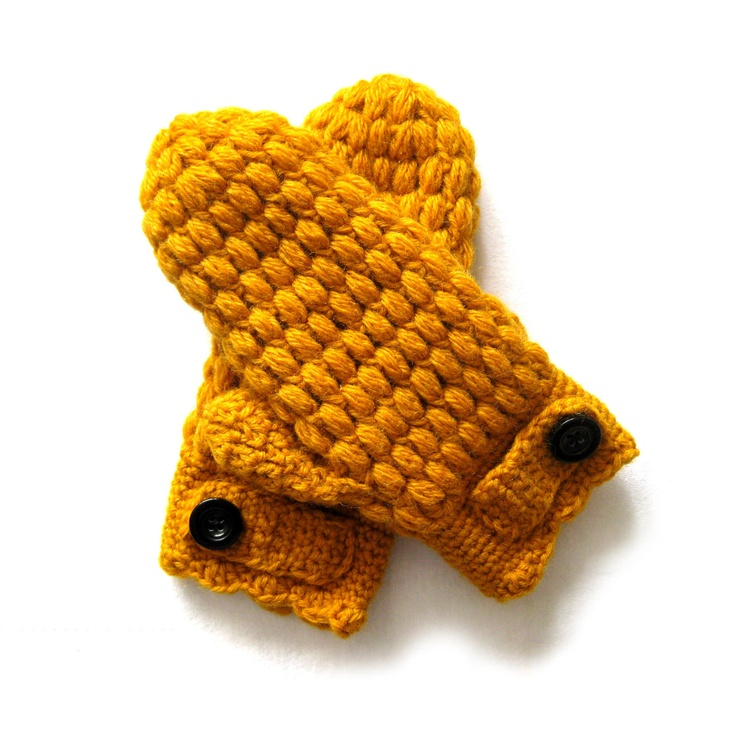 Puff Mittens Crochet Pattern by CrocheTrend $, via Etsy.