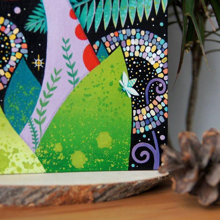 """""""Fireflies""""  20x30 cm. Canvas on cardboard. acrylic. 2016  Together with @katyudovik 🎇🎆🎇🎆 Для меня высшая ценность искусства, в создании уникального, ранее не существовавшего.  В твоей голове целый фантастический мир иллюзий и метафор. Ты ретранслятор, только твои руки могут вытащить это на холст из головы и показать окружающим.  Поэтому я не смогу принять реализм в искусстве 21 века, когда все границы стали такими размытыми. У художника развязаны руки. Нет никаких правил. Так что же вас…"""