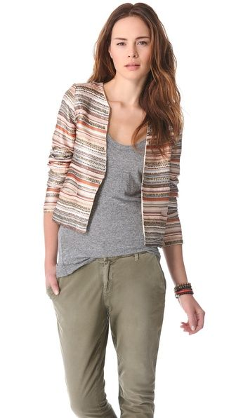 Love Sam Embroidered Stripe and Sequin Jacket at @Shopbop