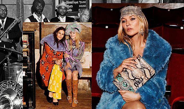 Кадр из новой рекламной кампании @miumiu для сезона fw17. В объективе фотографа Аласдера Маклеллана оказались Кейт Мосс Наоми Харрис сестры Адвоа и Кишева Абоа и другие. #miumiu #fw17 #new #campaign #harpersbazaar #harpersbazaarukraine  via HARPER'S BAZAAR UKRAINE MAGAZINE OFFICIAL INSTAGRAM - Fashion Campaigns  Haute Couture  Advertising  Editorial Photography  Magazine Cover Designs  Supermodels  Runway Models