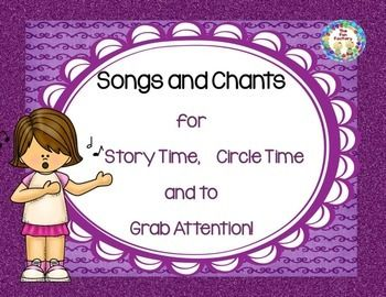 "FREE!  Enjoy these copyrighted songs and ""attention-getters"". The songs are fun to use anytime during Circle Time or as an introduction to Storytime.   I use the ""Come with Me"" song to go around and collect children from centers when they are taking too long to clean up. Just grab a child's hand and begin to form a train as that child grabs another hand etc. Finish up by forming a circle at the carpet and have the children sit down ready for a story."