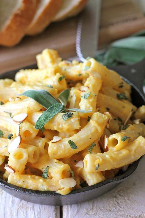 Roasted butternut squash pasta sauce.