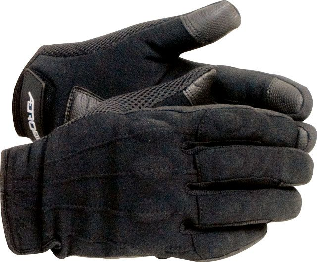 "If you're looking for a pair of motorcycle riding gloves that are comfortable in a variety of riding temperatures (except truly cold!), look no farther. Aerostich bills their Hot Weather Vegan gloves as a summer glove ""ideal for all warm to hot weather rides."" They're right, except we've found them nice even on 50-degree mornings.  Order a size larger than you normally wear, as they fit tight. (From a review of 8 pairs of gloves, Motorcycle Classics Nov/Dec 2011)"