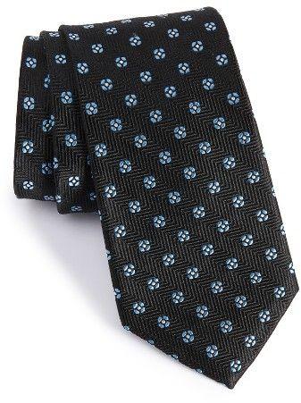 Men's Nordstrom Men's Shop Harry Neat Medallion Silk Tie