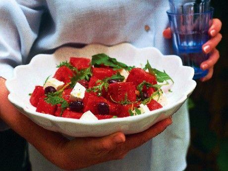 Sommarsallad med vattenmelon och feta