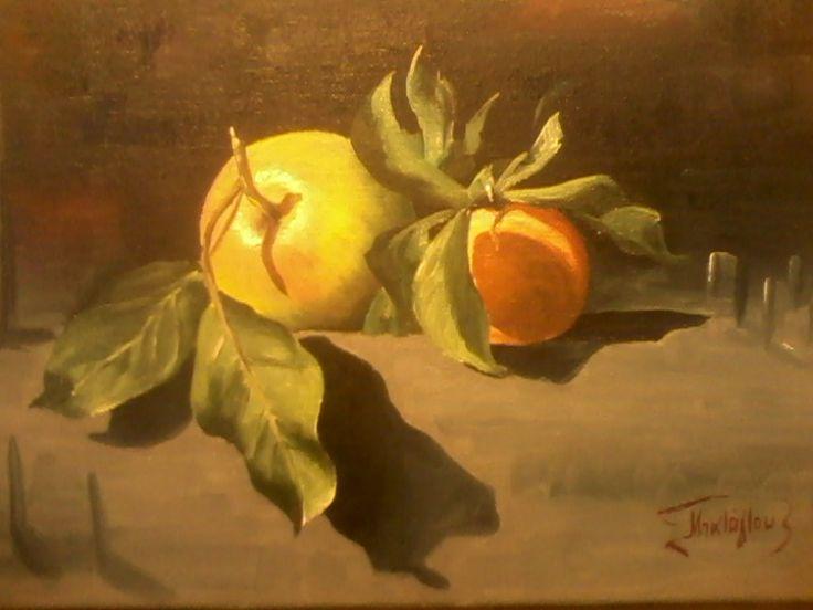 Φρούτα 30cm x40cm oil