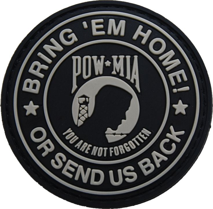 POW MIA rubber velcro morale patch | Shades of Gray Tactical
