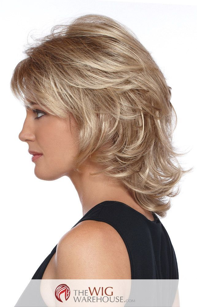 Offered in a number of natural-toned colors, the Angela wig is a darling medium-length shag wig. With a gentle layered flip that offers a number of choices in styling, this wig can take you from dayti