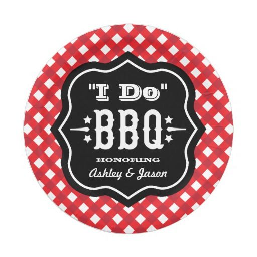 I Do BBQ   Red and Black Wedding Paper Plate  sc 1 st  Pinterest & 437 best Paper Plates images on Pinterest   Lyrics Text messages ...