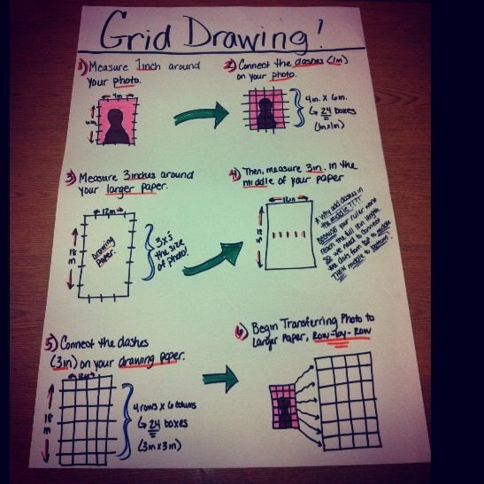 Grid Drawing Poster