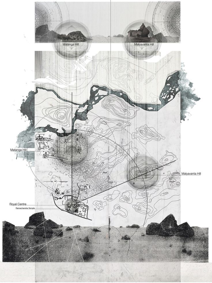 Dobson, Brad. THE FORGOTTEN WORLD grey backed inset on white paper; graphite type blur and paper textures. Natural Forms bleed beyond the edges of the expected map boundary: