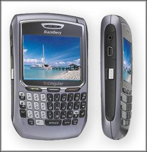 The BlackBerry 8700 featuring a large 320×240 pixel screen and 65K colour depth. We love it