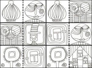 hundertwasser coloring book - Google Search