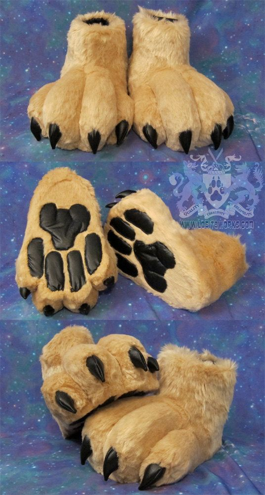 Fursuit Feet with Claws + Pawpads - Made to Order